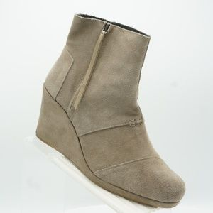 Toms 300614 Sz 12 Gray Ankle Boots Womens B7 C33